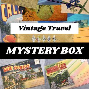 Vintage Travel Photo Postcard Mystery Box